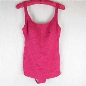 Vintage 1950s 1960s Pink Swimsuit, Sz M, One Piece